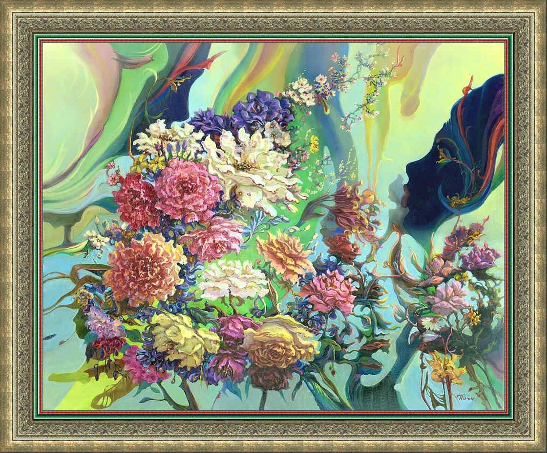 Пленение роз., х/м, 40 х 50 см., 2014 г. Художник Сергей Панин